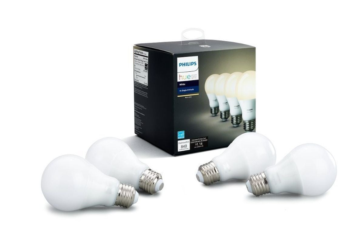 photo of Snag a four-pack of our favorite Philips Hue white smart bulbs for their cheapest price yet image
