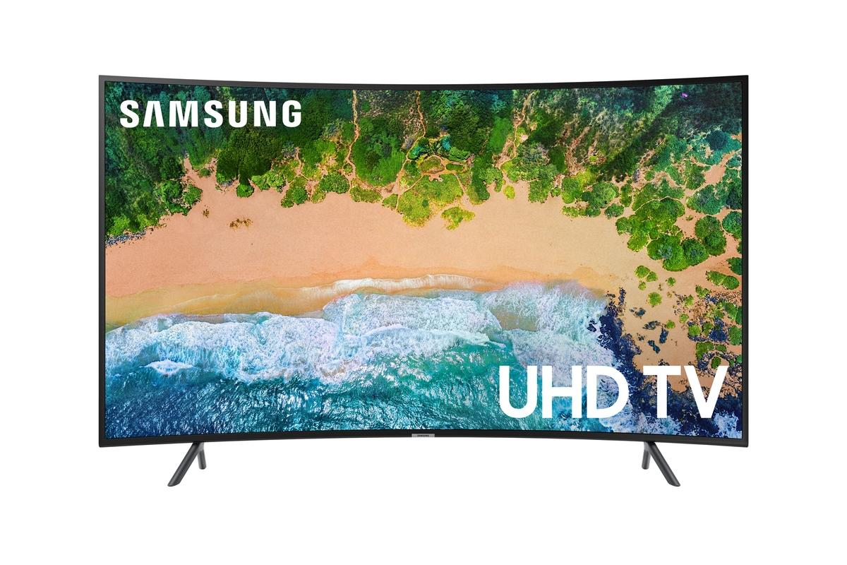 Immerse yourself in 4K HDR with this 55-inch Samsung curved Smart TV for 50% off