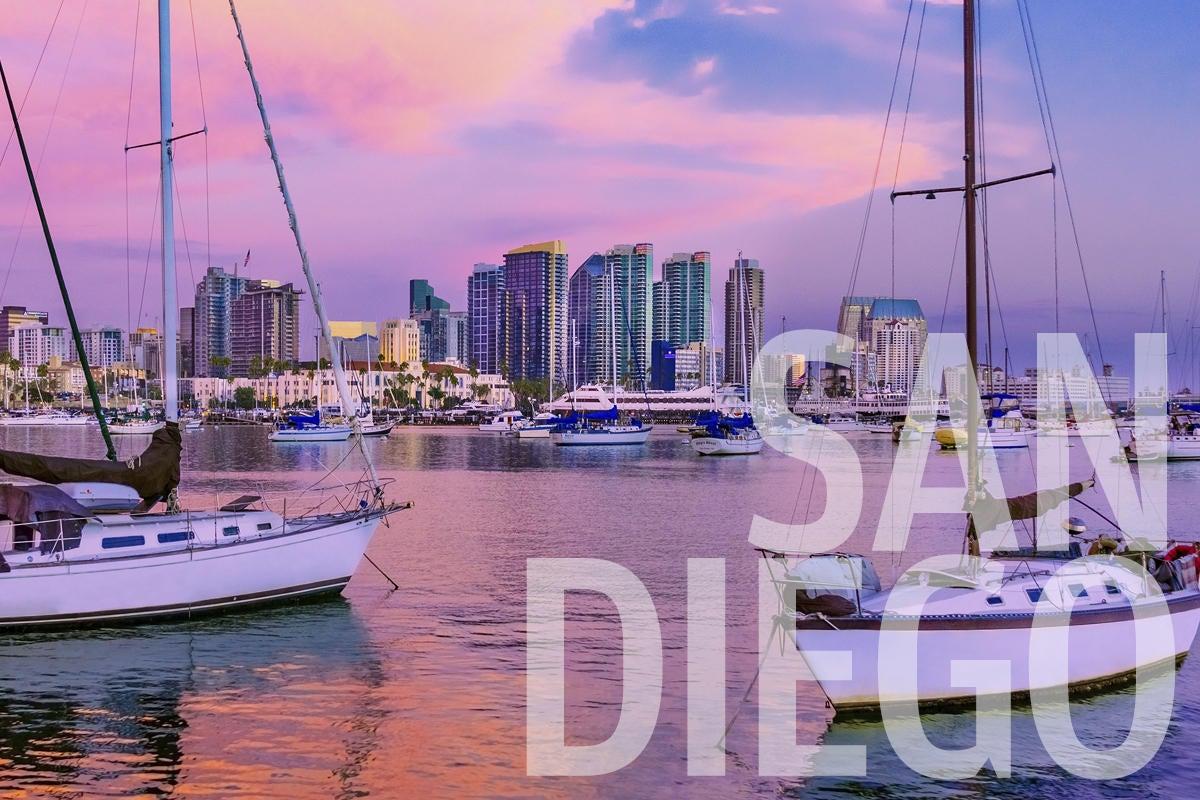 san diego sailboats skyline harbor by ron thomas getty