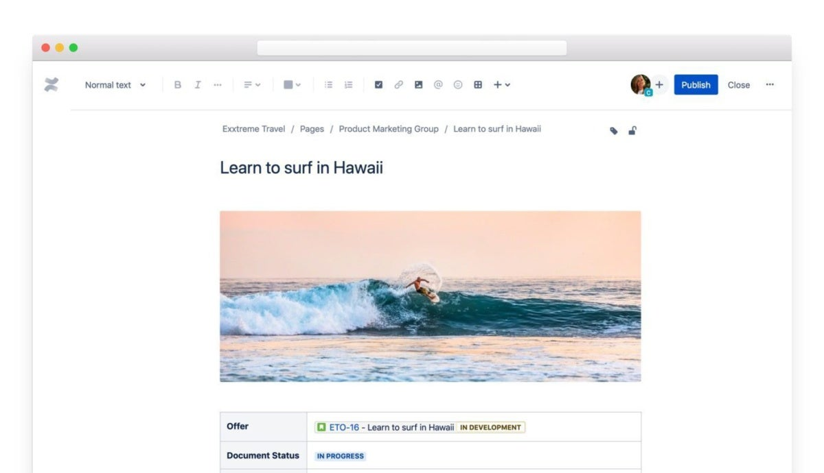 Confluence content enhancements