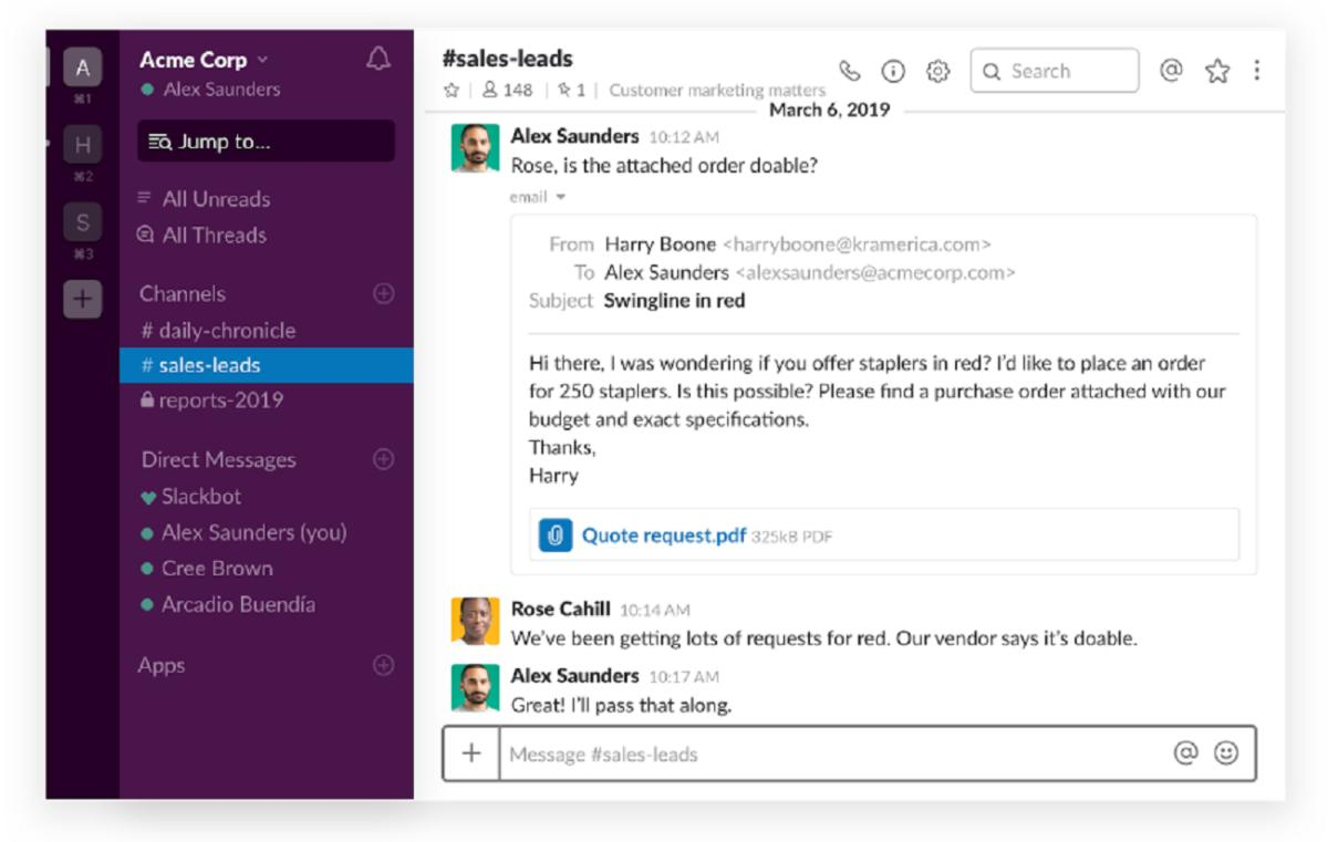 slack now integrates with office 365  pushing office docs