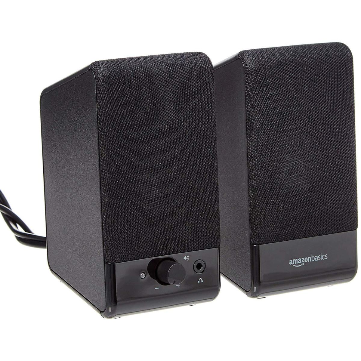 amazonbasics computer speakers usb powered review these budget speakers are a sound savings. Black Bedroom Furniture Sets. Home Design Ideas