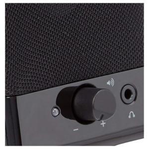 amazonbasics computer speakers detail control dial