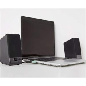amazonbasics computer speakers with laptop