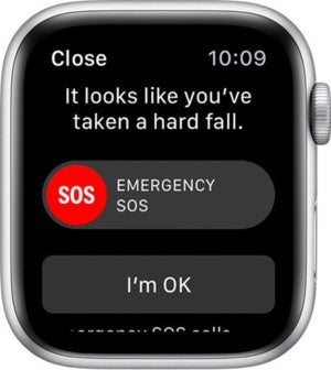 apple watch fall