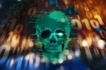 CSO  >  danger / security threat / malware / binary skull overlaying binary code
