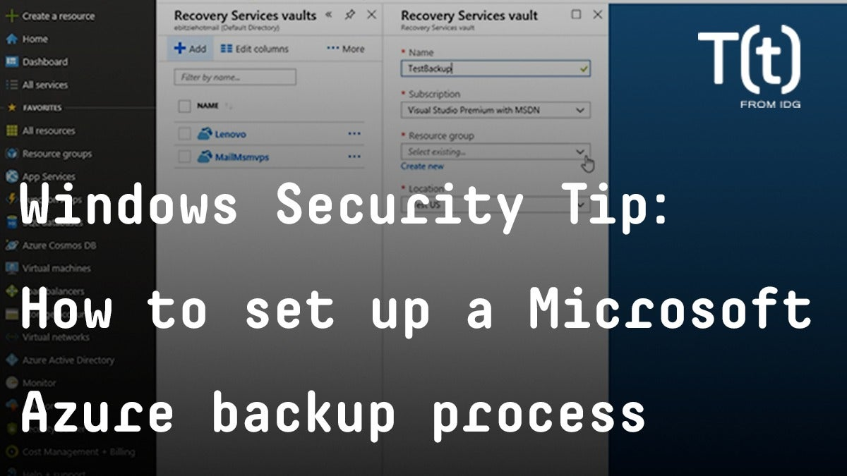 How to set up a Microsoft Azure backup process