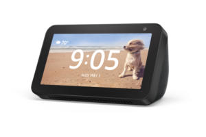 echo show 5 charcoal front left angle