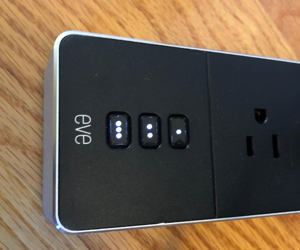 Eve Energy Strip buttons