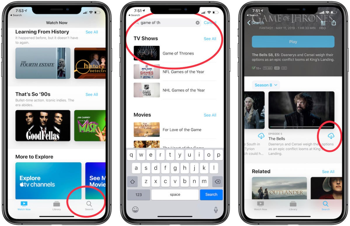 how to download hbo shows on iphone