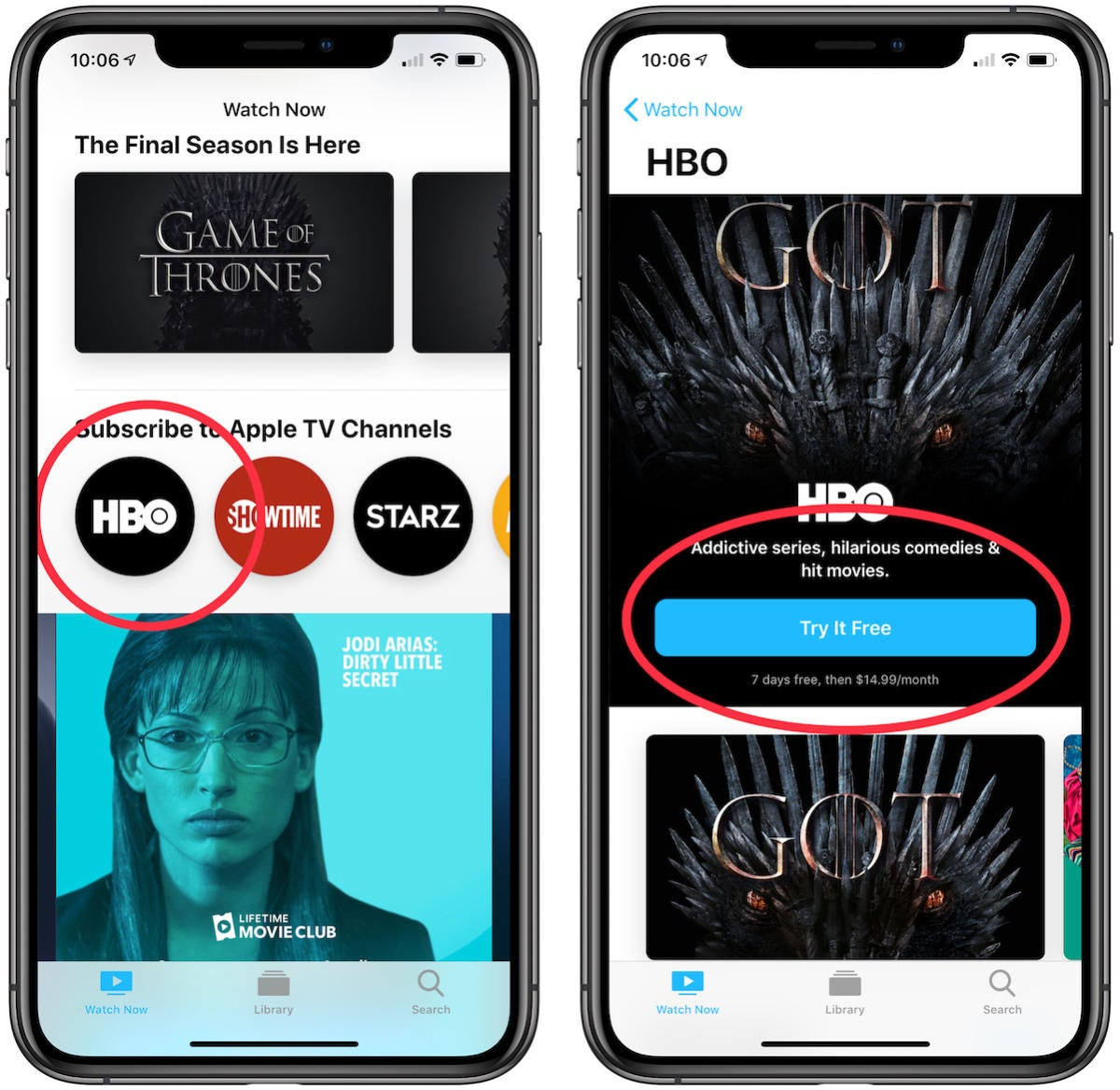 how to sign up for channels through apple tv app