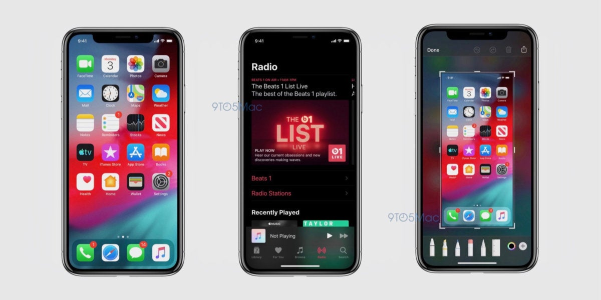 ios 13 screenshot dark mode 9to5