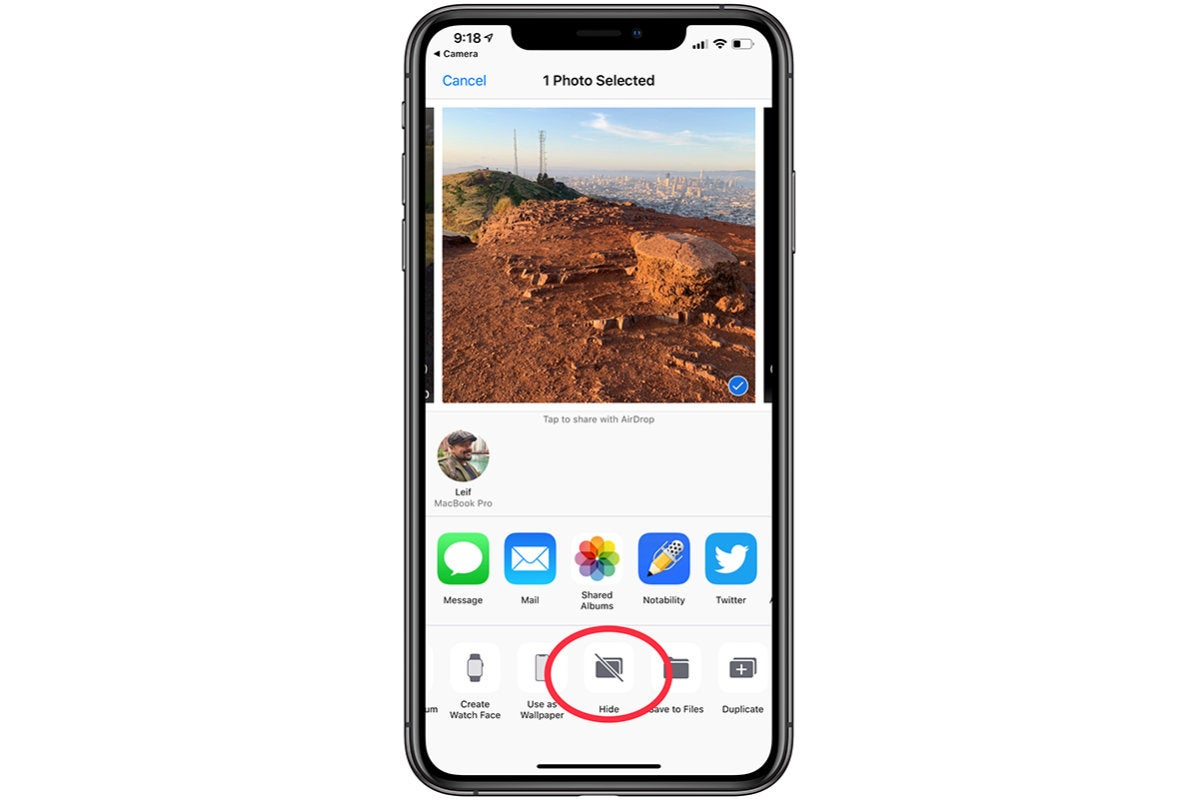 ios hide photos