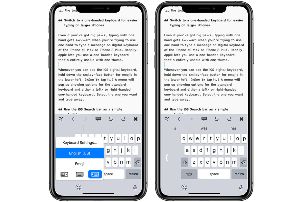 ios one handed keyboard
