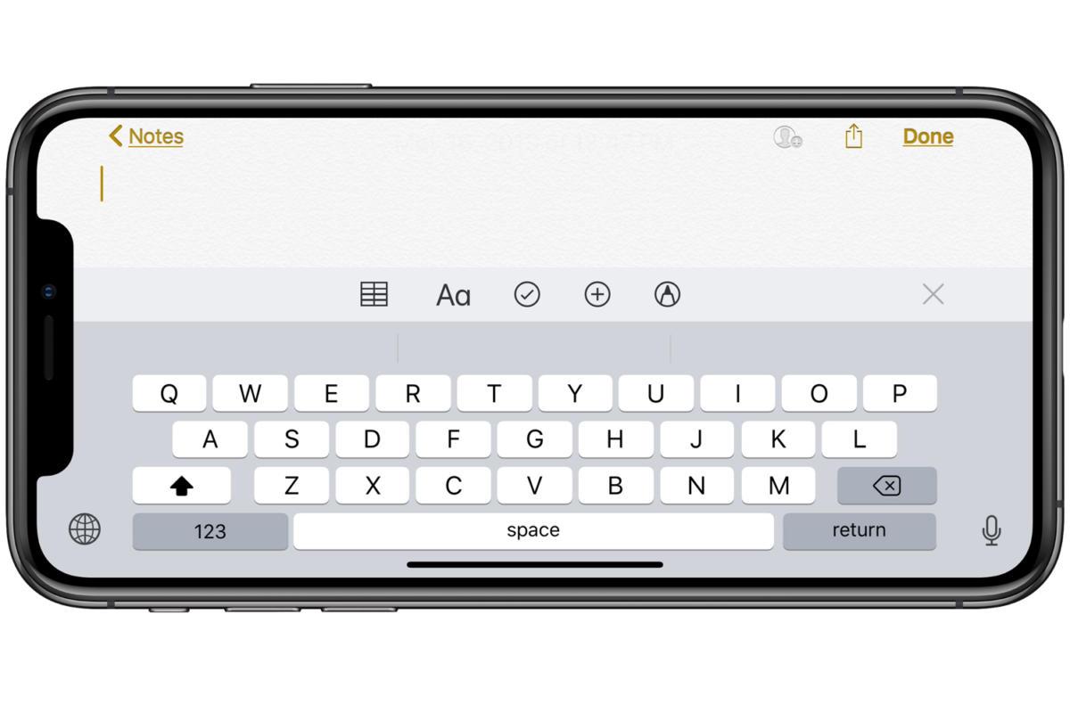 ios12 keyboard iphone
