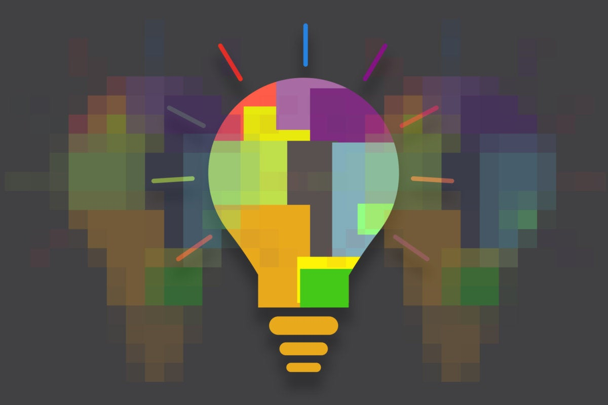 light bulbs digital transformation fragments creativity innovation
