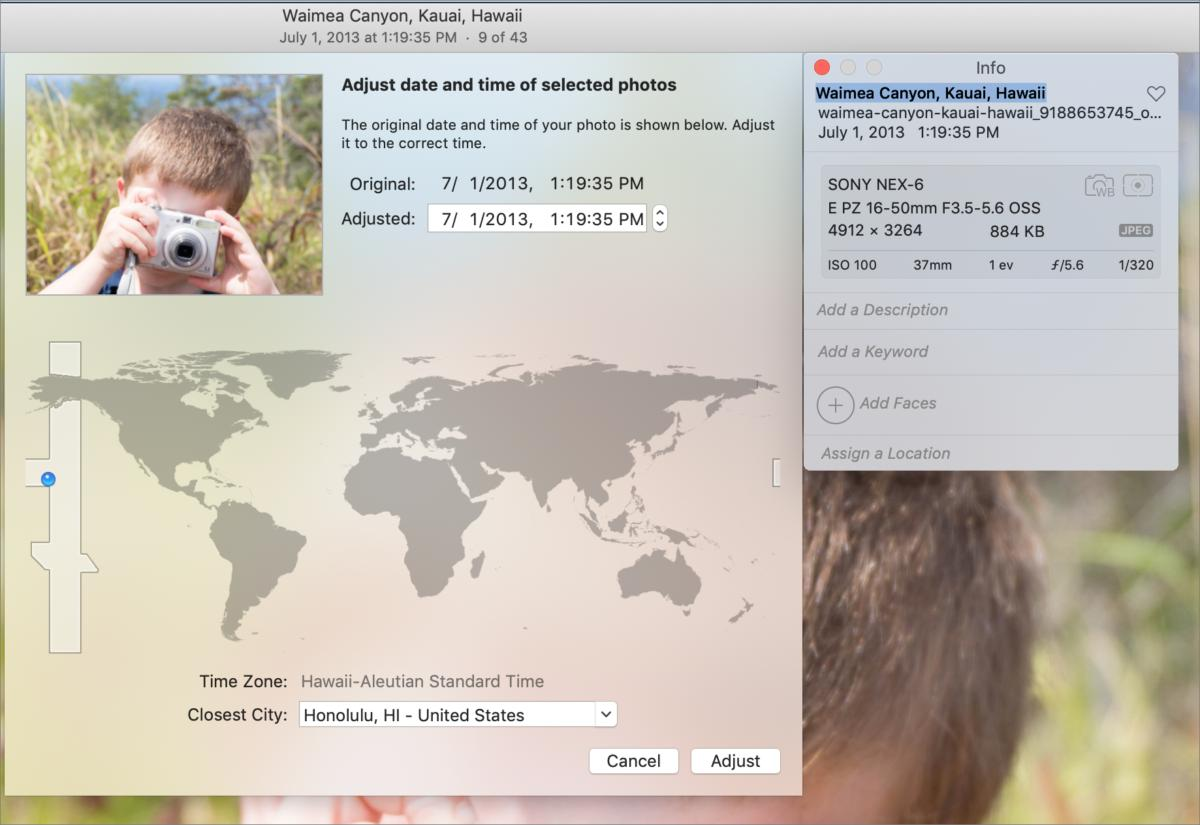 mac911 checking date zone photos macos