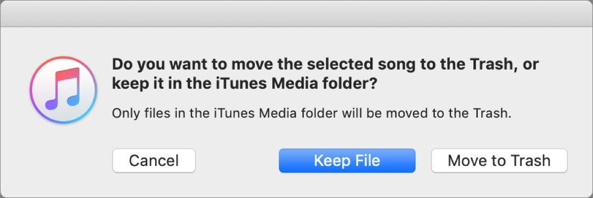 mac911 itunes delete dialog