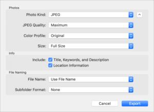 How to get the best image export from Photos in macOS