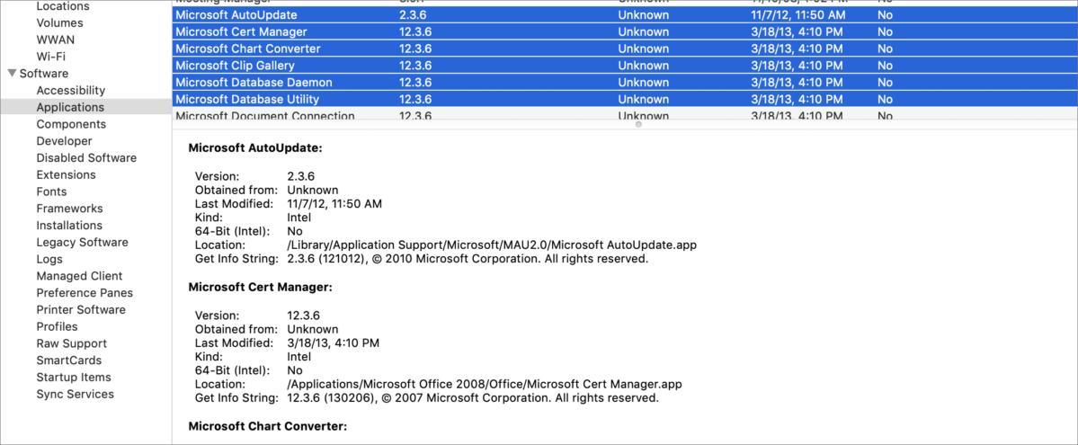 Mac911 System Listing
