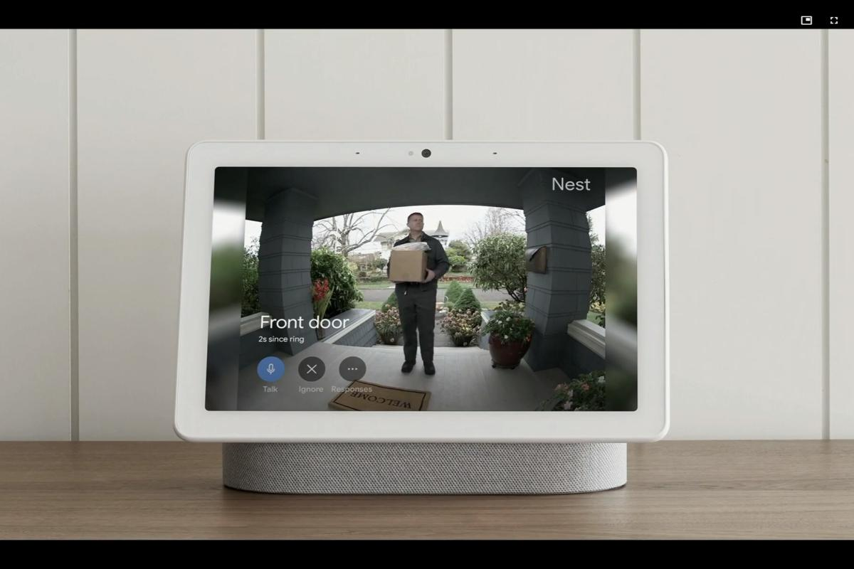 nest home hub max with nest hello
