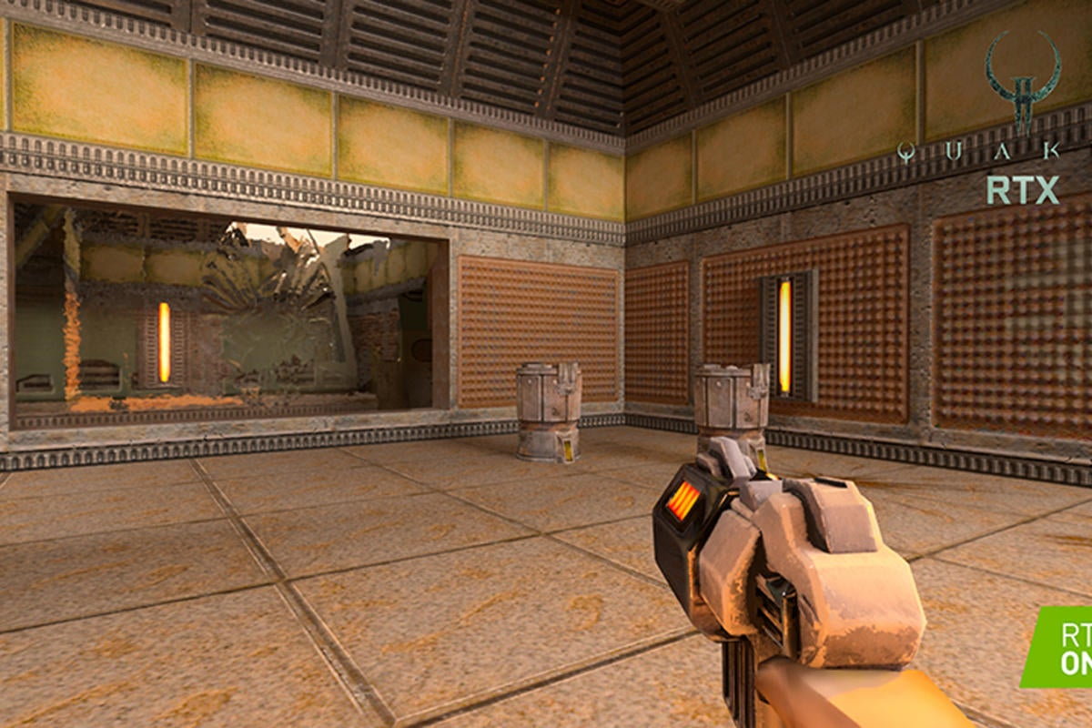 We Ran Quake Ii Rtx On A Geforce Rtx 2080 Ti Card And Here S How Fast It Was Pcworld