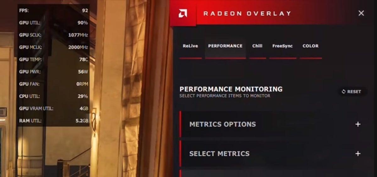 radeon overlay