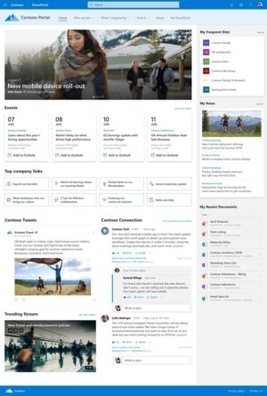 sharepoint home site image courtesy of microsoft