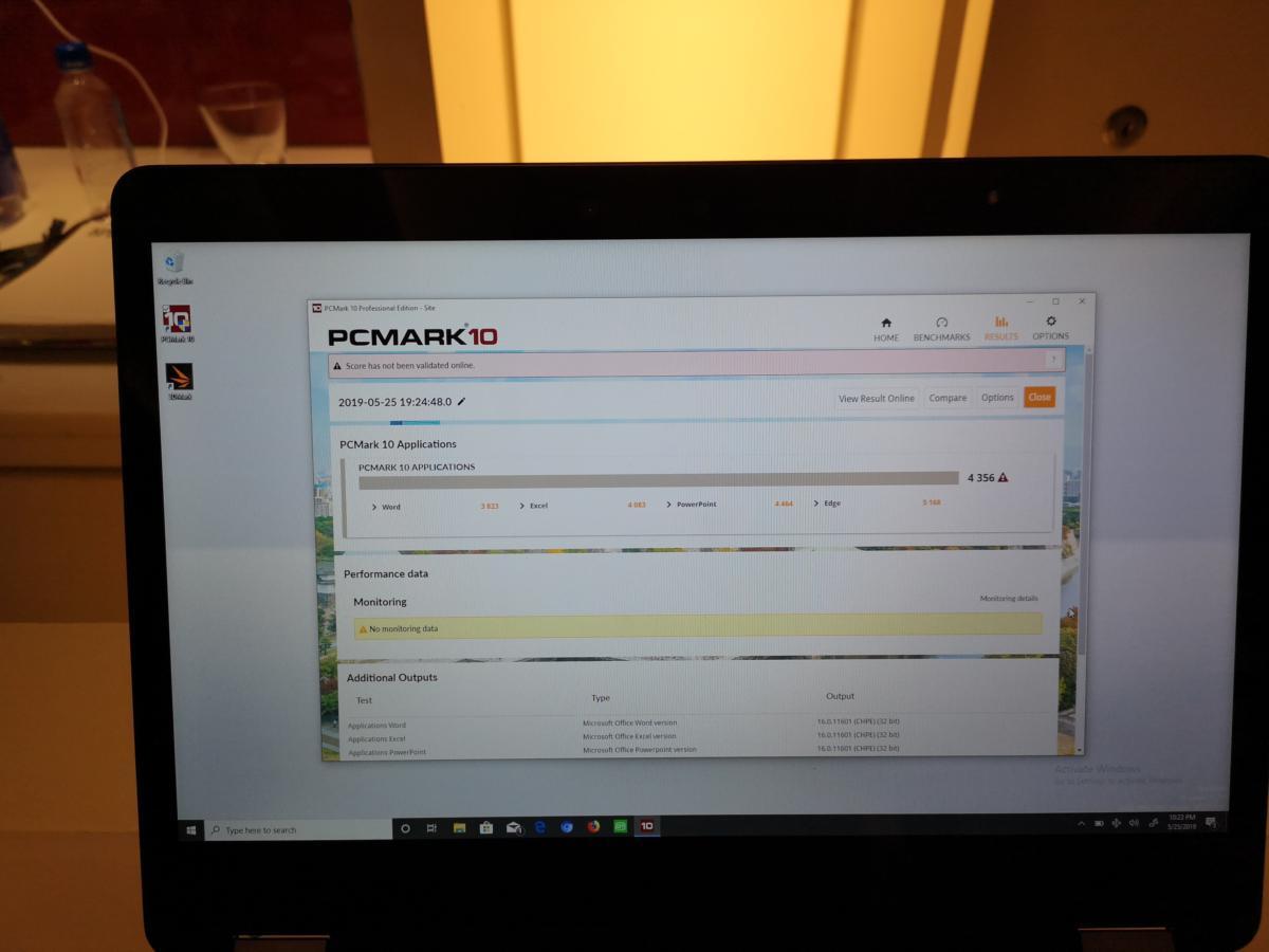 qualcomm snapdragon 8cx pcmark app test