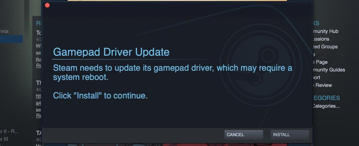 steam link gamepad driver update