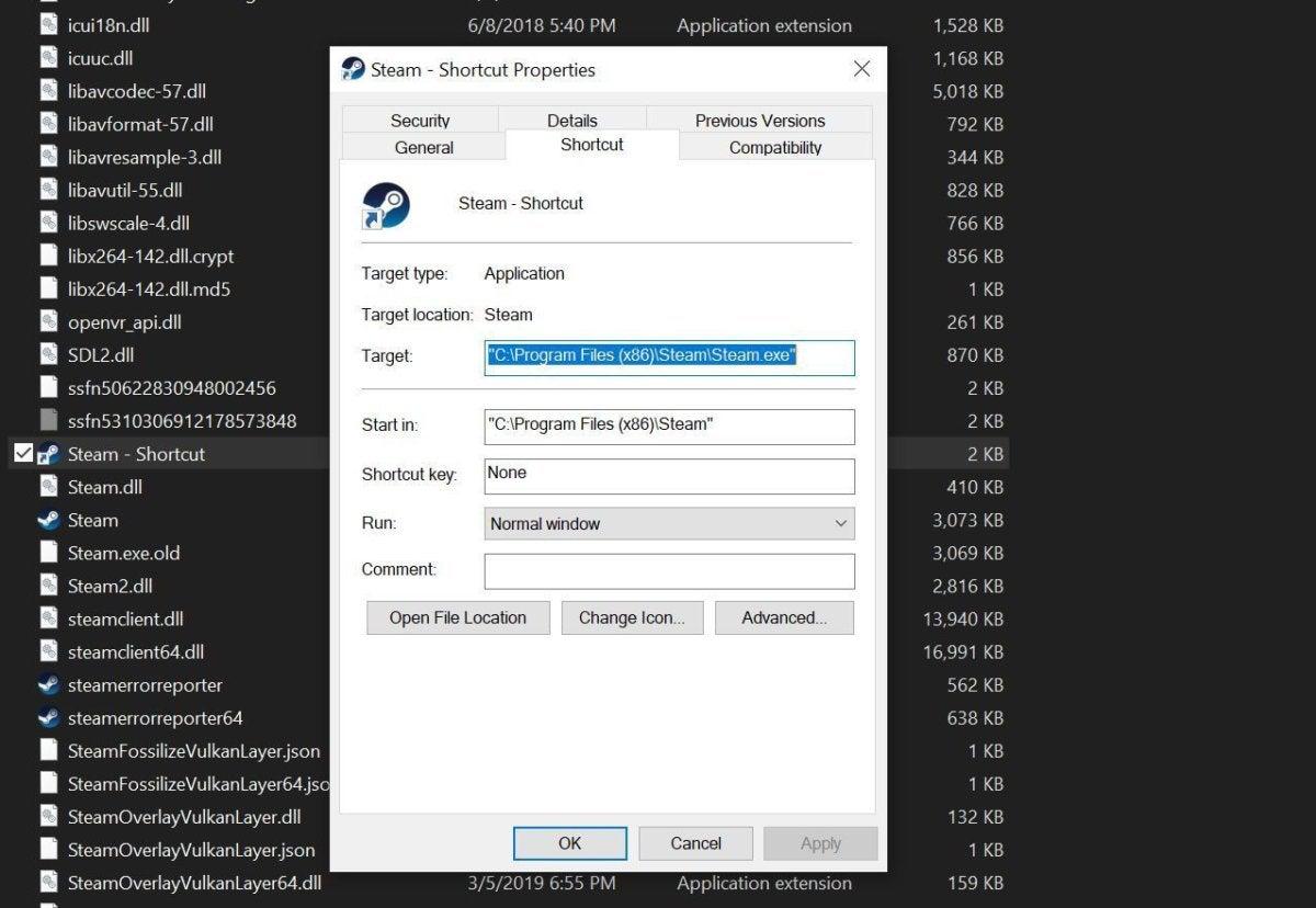steam shortcut creation