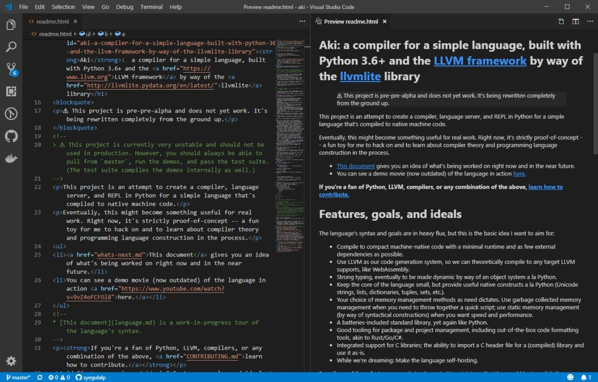 visual studio code html preview