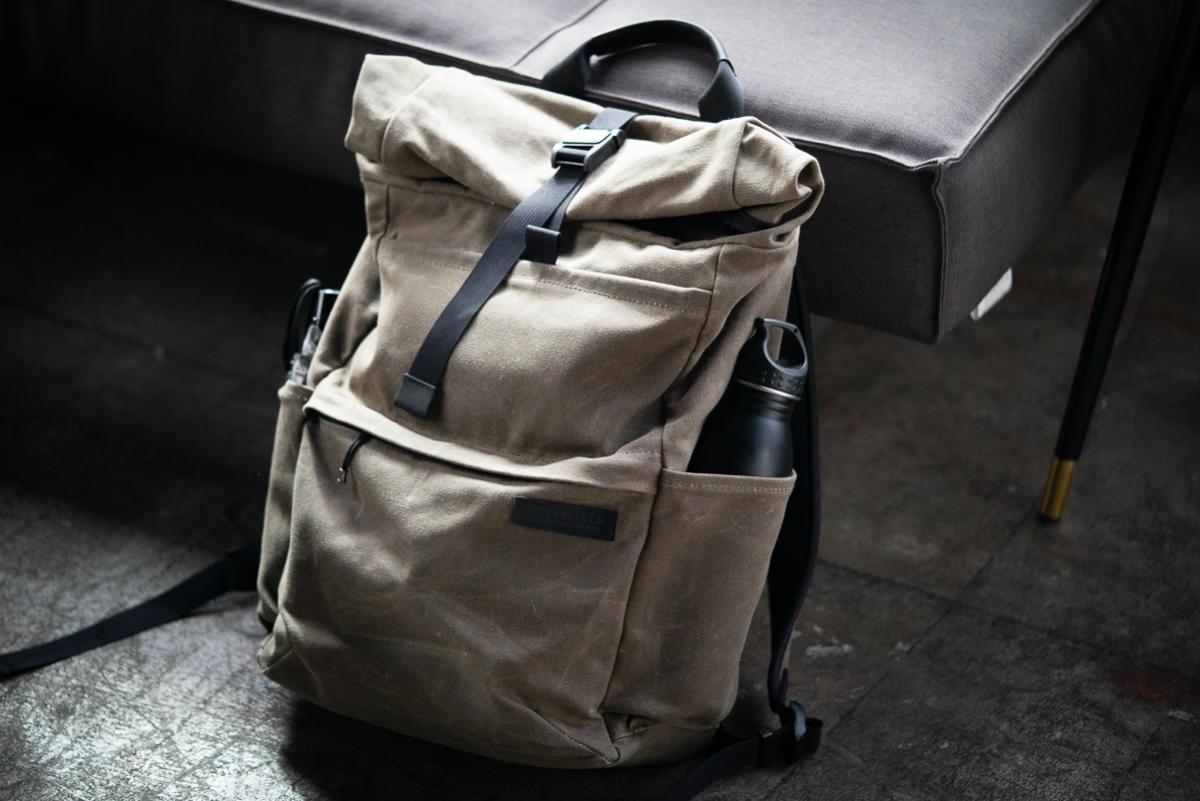 waterfield designs tech rolltop backpack hero