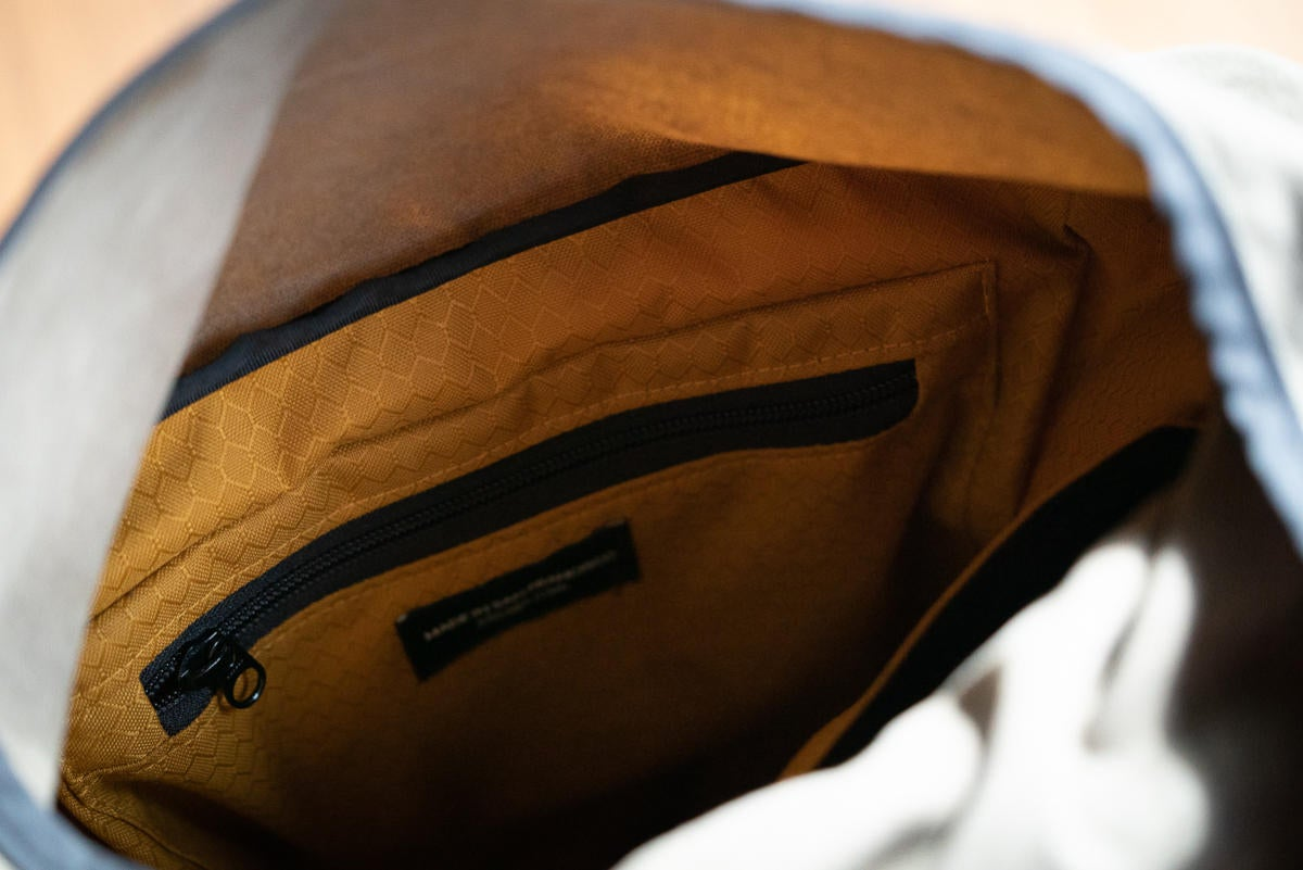 waterfield designs tech rolltop backpack inside