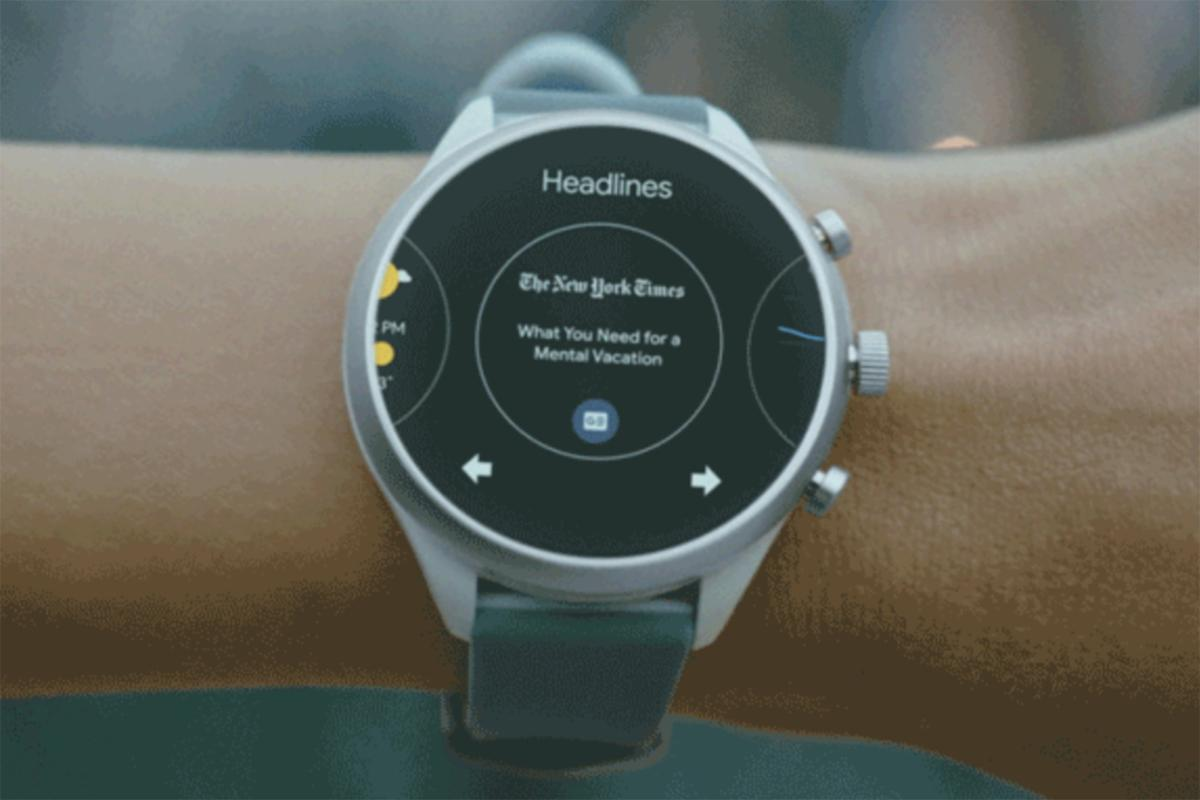 Google S Wear Os Gets Glancy With Swipeable Tiles For News Weather Timers And More Pcworld