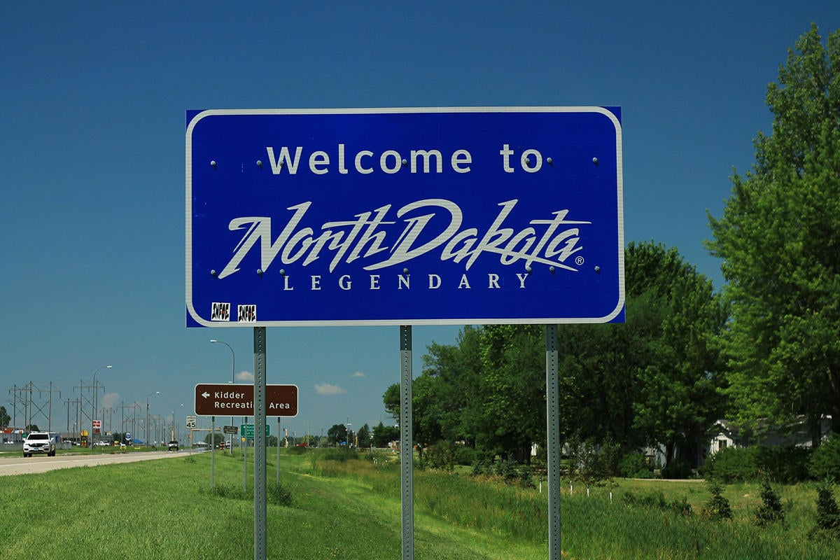 welcome to north dakota sign 42678037784 100795529