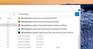 windows 10 file explorer search large