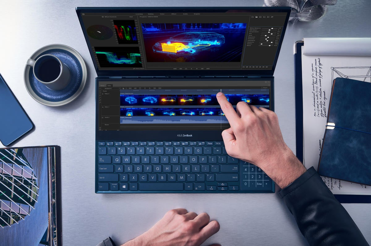 zenbook pro duo ux581 video editing