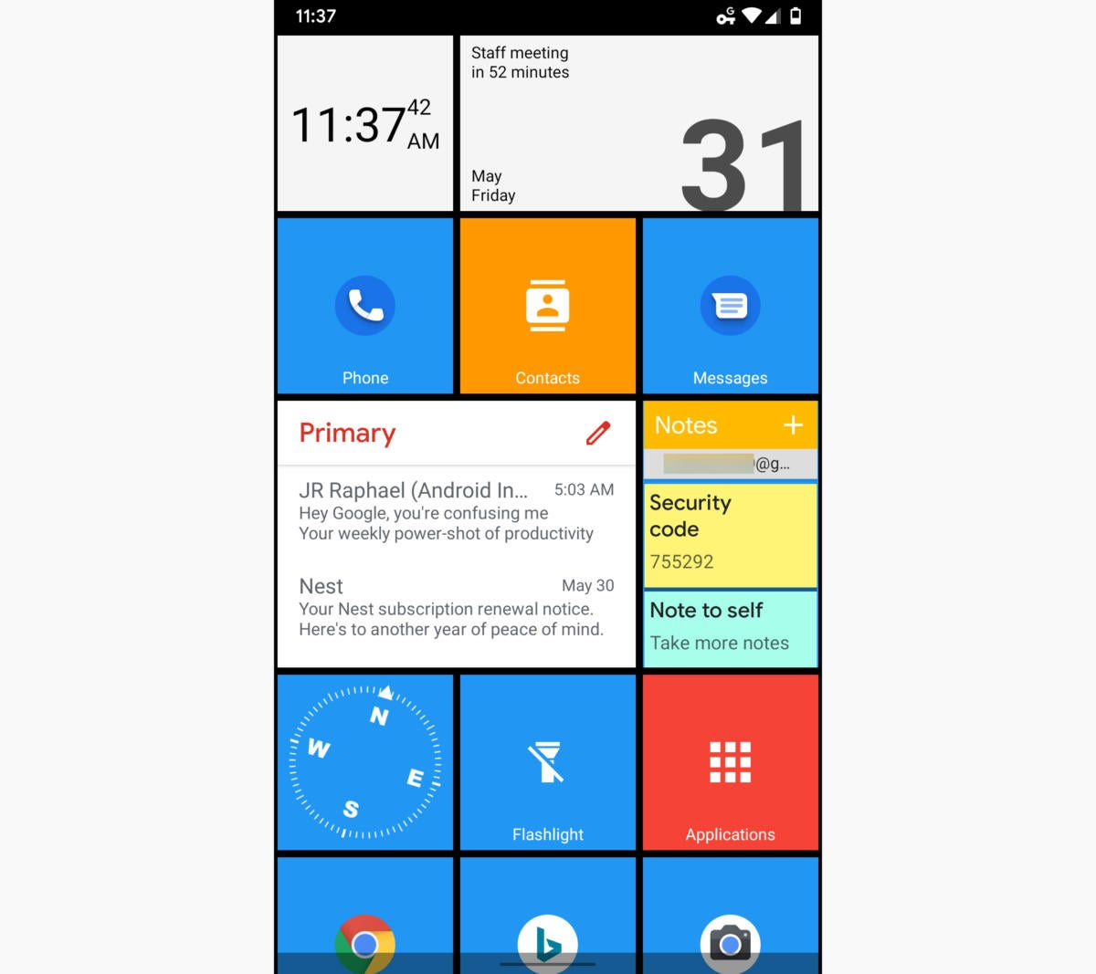 02 squarehome windows phone launcher 2019