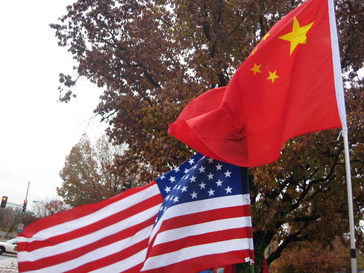 American Chinese flags