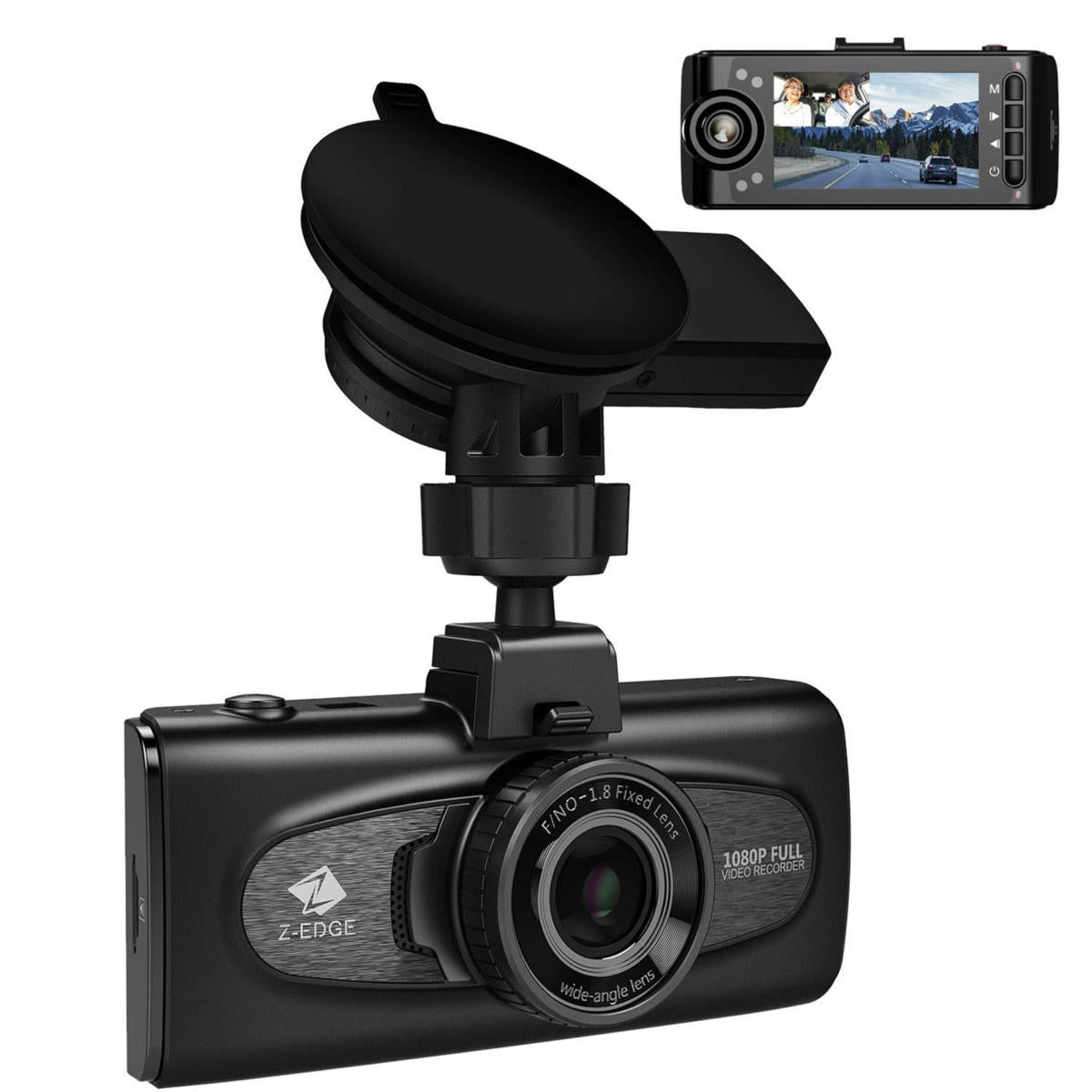 Z-Edge F1 dash cam: Great image quality and versatile GPS outweigh
