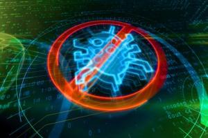 CSO  >  Antivirus symbol on binary background
