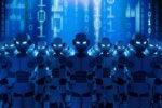 CSO  >  Botnet  >  Robots amid a blue binary matrix