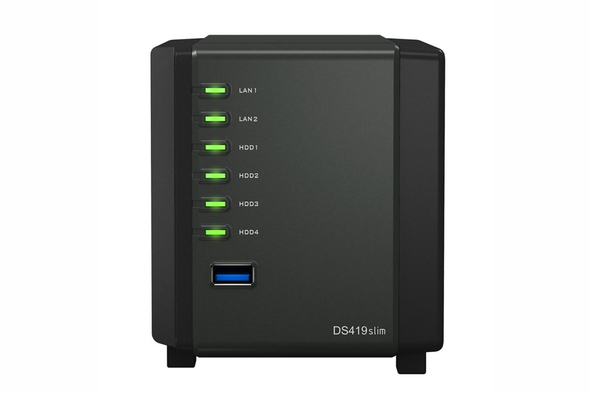 Synology DS419slim NAS box review: A low-profile, power-saving media
