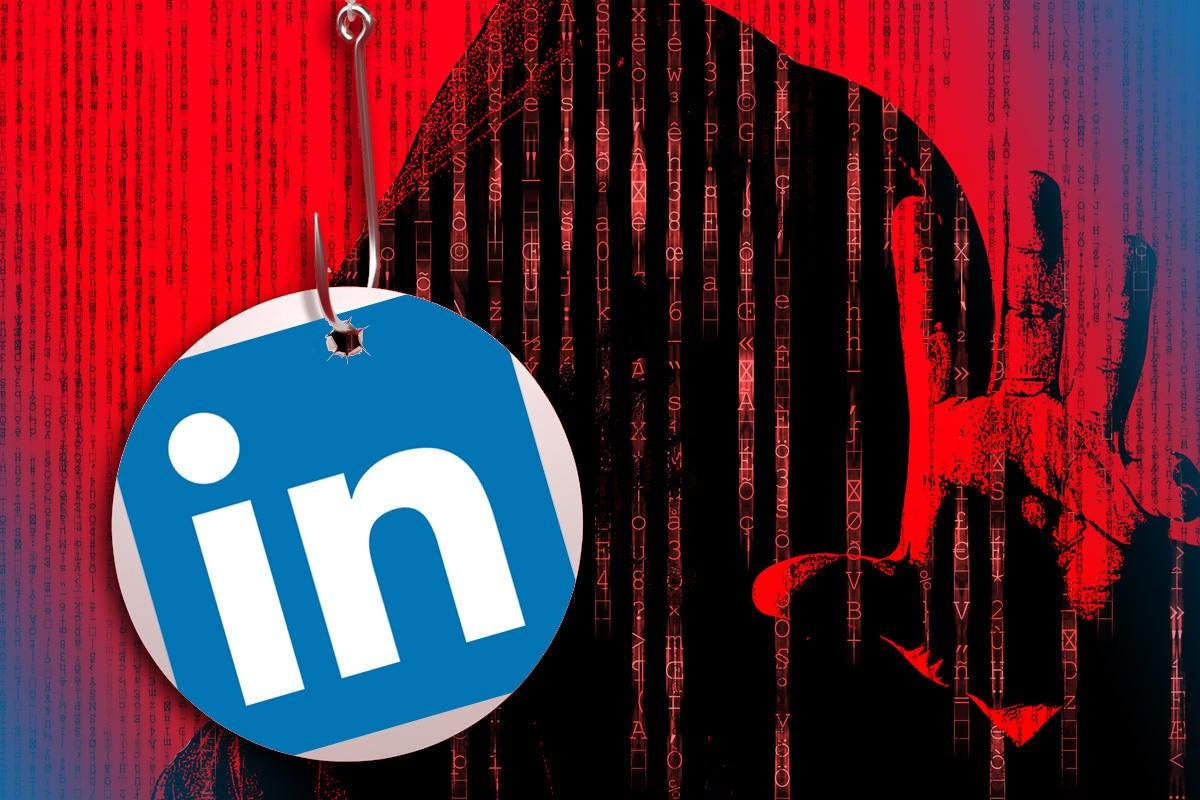 hacker linkedin scam romance scam on social media phishing heart 100798497