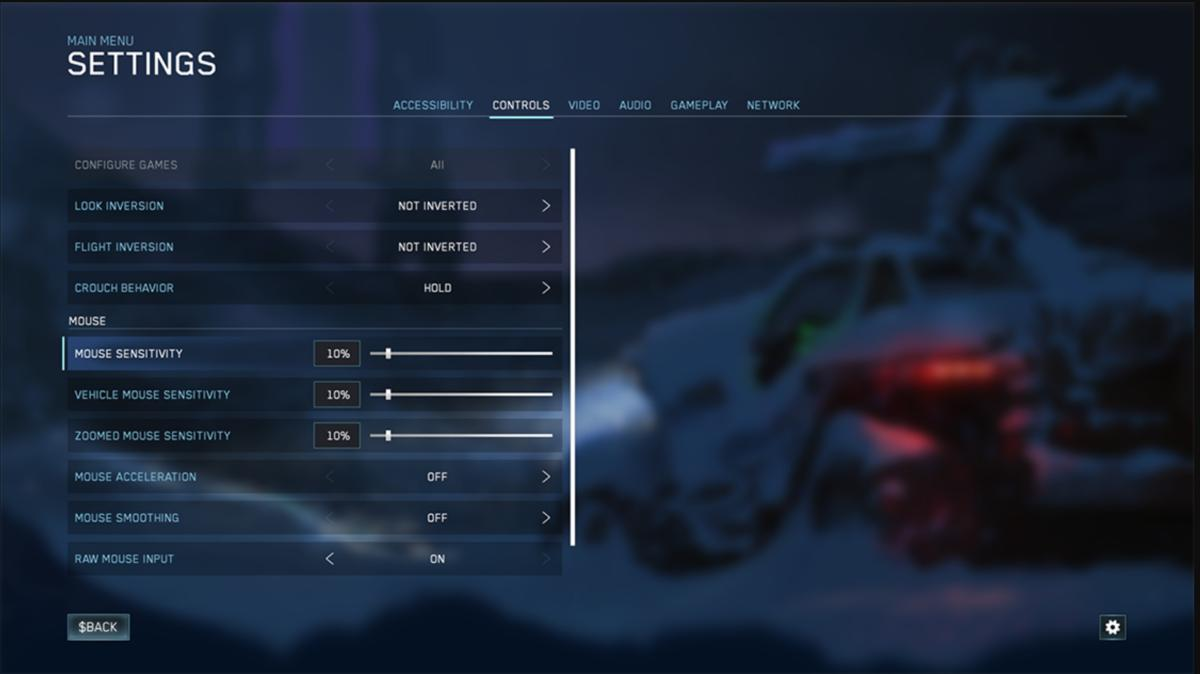 Halo Reach Settings