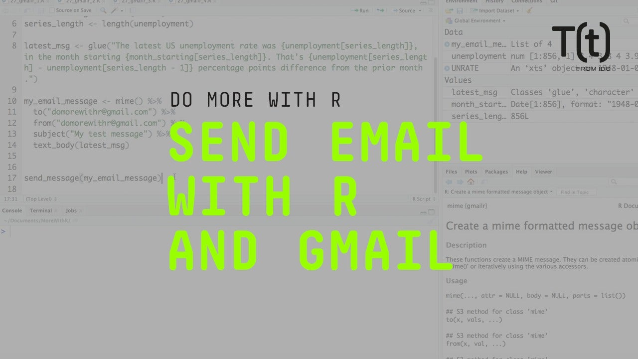 How to send email with R and Gmail | InfoWorld