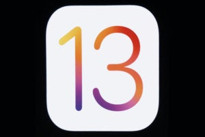 ios 13 logo apple