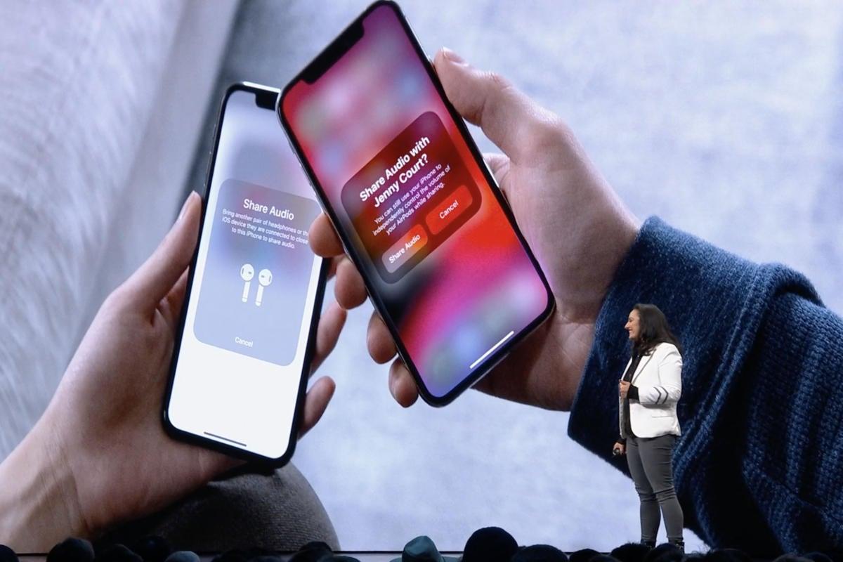 IOS 13 поделиться аудио