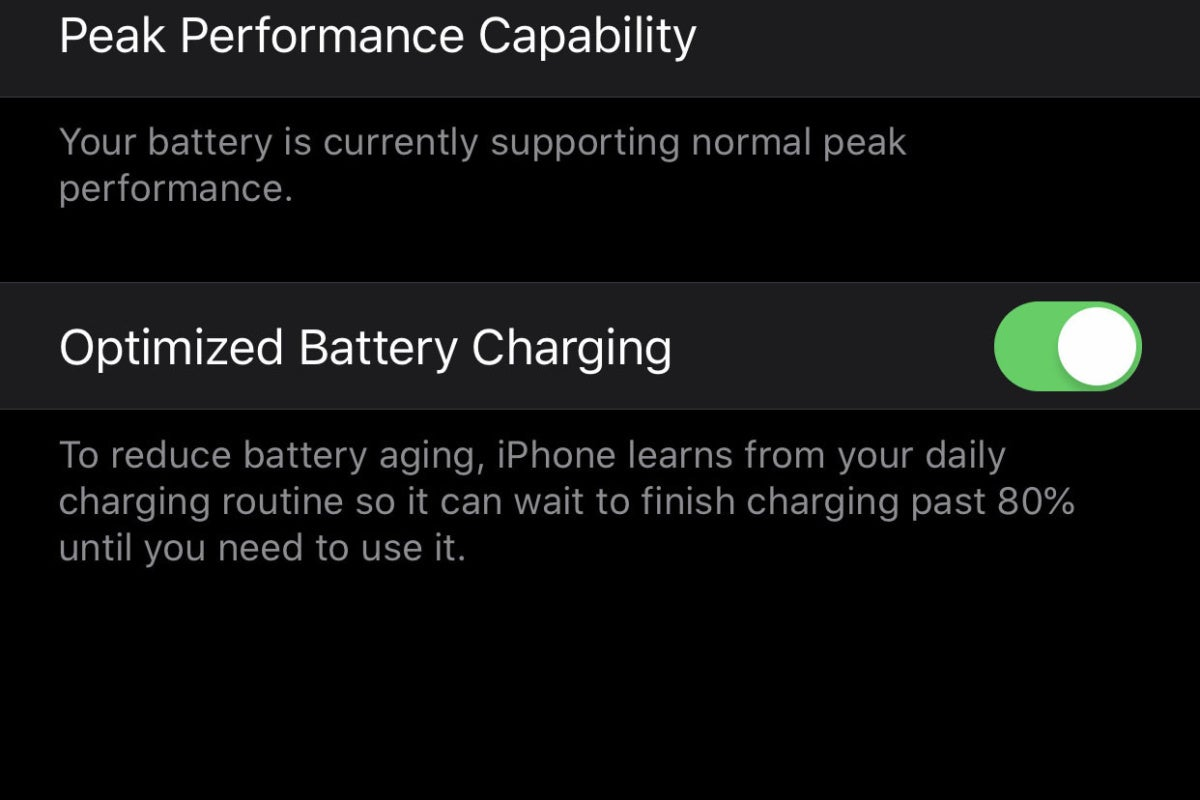 ios13 battery charging
